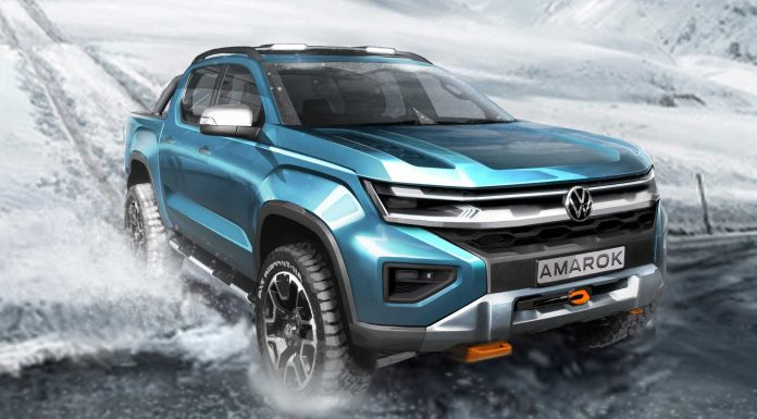 The future Volkswagen Amarok approaches reality with a futuristic look